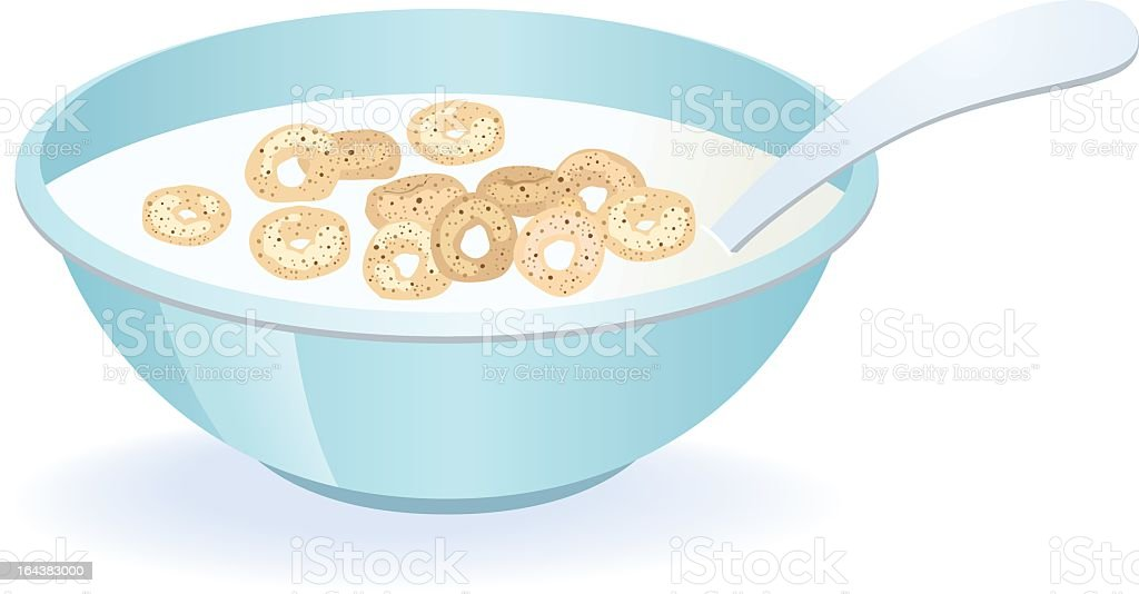 cereal bowl stock vector art more images of bowl 164383000 istock rh istockphoto com Bowl with Milk in It cereal bowl clipart black and white