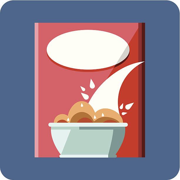 illustrazioni stock, clip art, cartoni animati e icone di tendenza di scatola di cereali - corn flakes