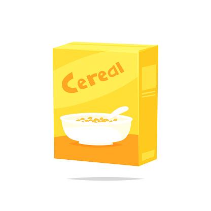 Cereal Box Vector - Arte vetorial de stock e mais imagens de Banda desenhada - Produto Artístico