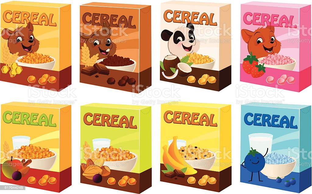 Cereal Boxes vector art illustration