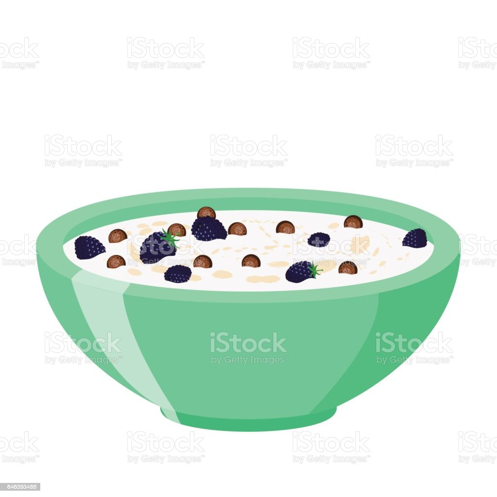 royalty free cereal bowl clip art vector images illustrations rh istockphoto com cereal bowl clipart