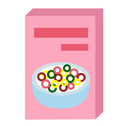 Cereal Flat Illustration On White - Arte vetorial de stock e mais imagens de Alimentação Saudável