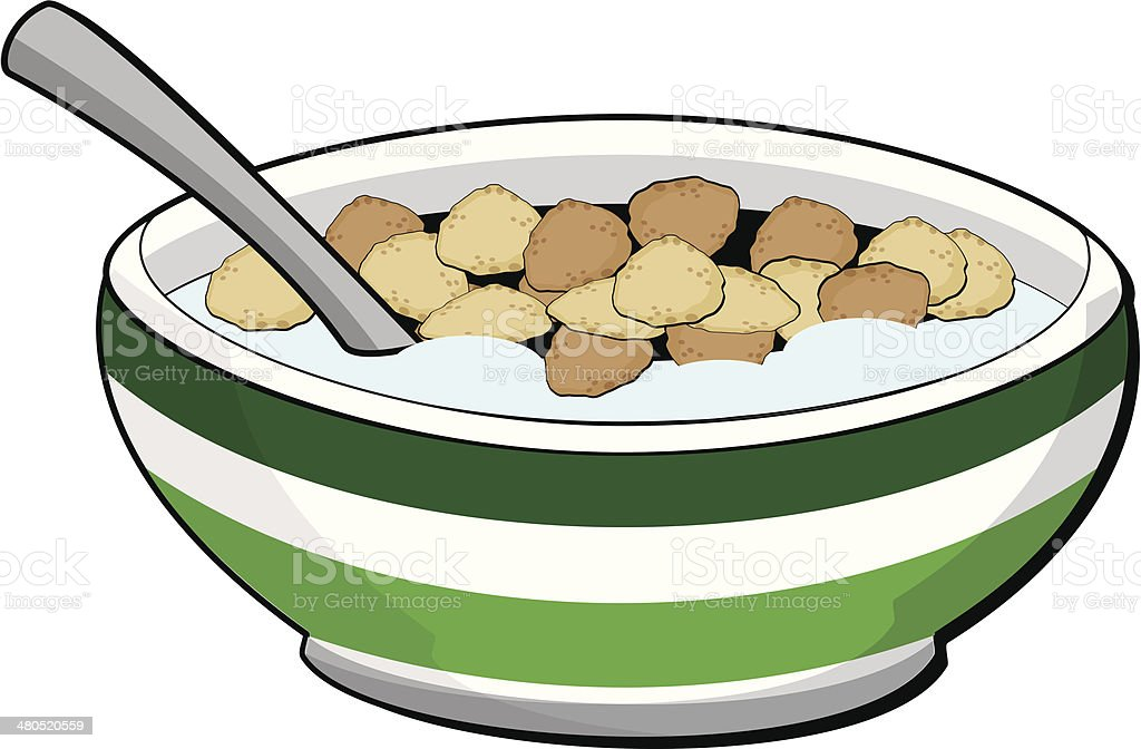royalty free bowls of cereal cartoon clip art vector images rh istockphoto com Pop Cereal Bowl Clip Art bowl of cereal clipart