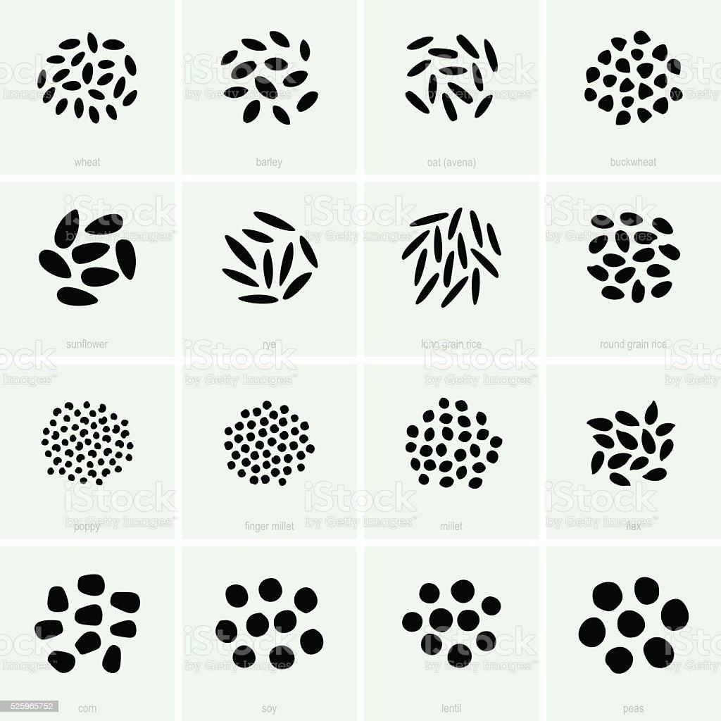 Cereals vector art illustration