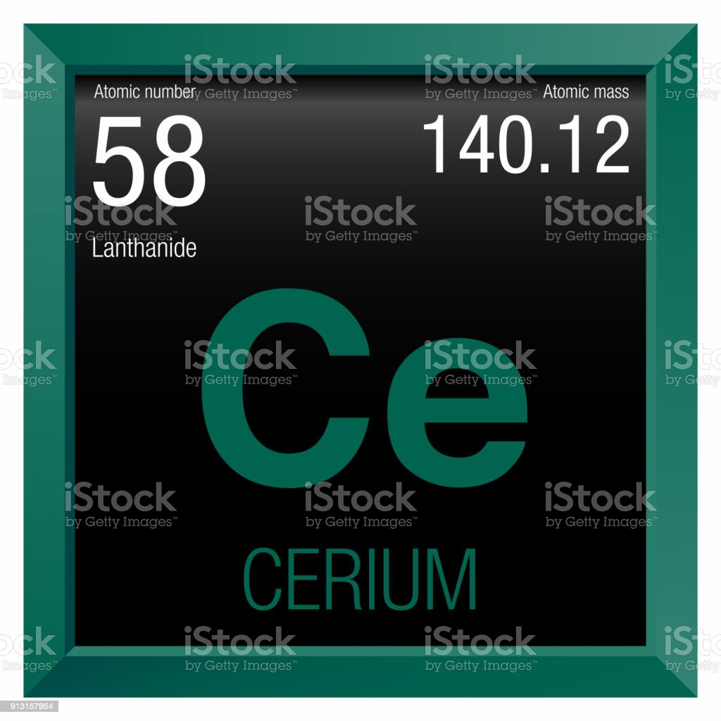 Cerium symbol element number 58 of the periodic table of the cerium symbol element number 58 of the periodic table of the elements chemistry royalty urtaz Image collections