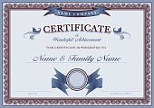 Vector Illustration of a Certificate Achievement Classic Border