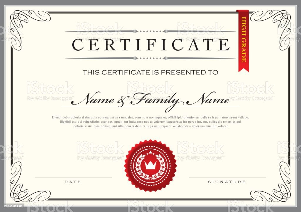 Certificate Achievement Diploma - Royalty-free Achievement stock vector