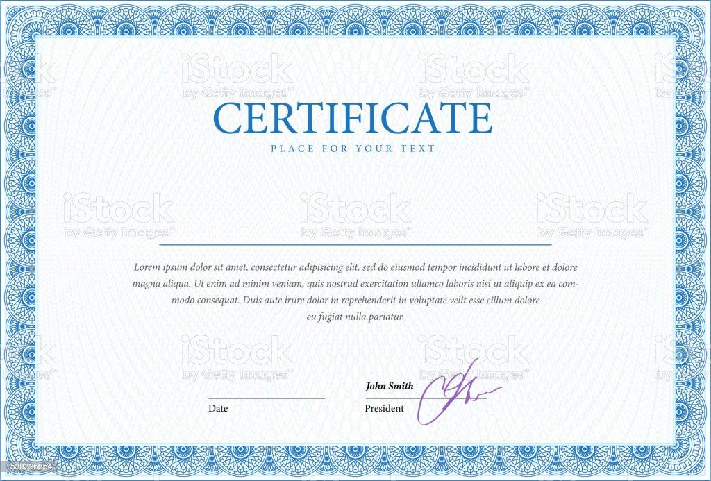 Plantilla de certificado y de los diplomas. - ilustración de arte vectorial