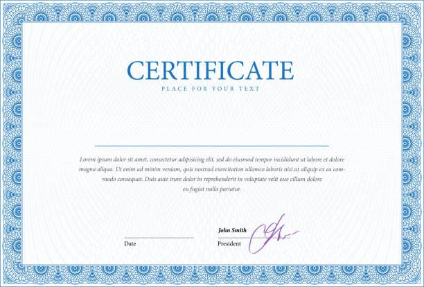 ilustraciones, imágenes clip art, dibujos animados e iconos de stock de plantilla de certificado y de los diplomas. - marcos de certificados y premios