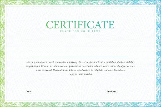 Certificate and diplomas template. vector art illustration