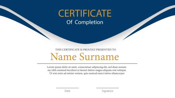 stockillustraties, clipart, cartoons en iconen met certificaat achtergrond - certificaat