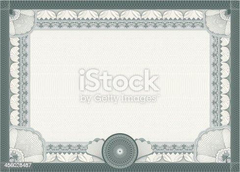 istock Certificate - blank template 456028487