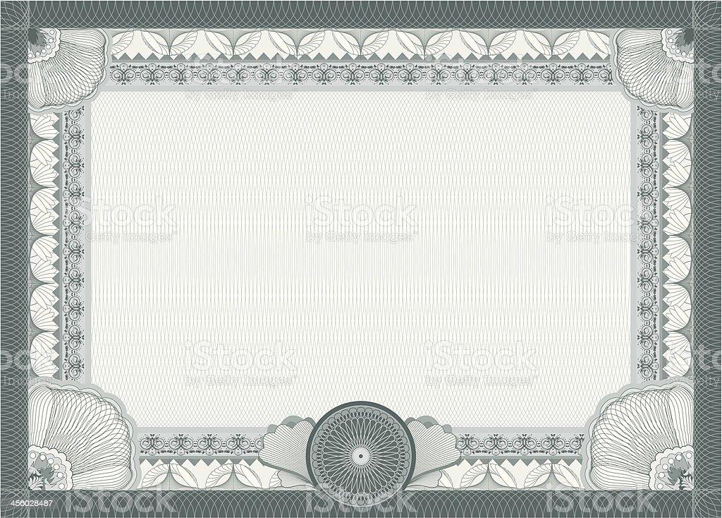 Certificate - blank template vector art illustration