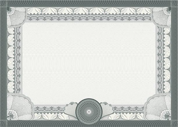 bildbanksillustrationer, clip art samt tecknat material och ikoner med certificate - blank template - diploma