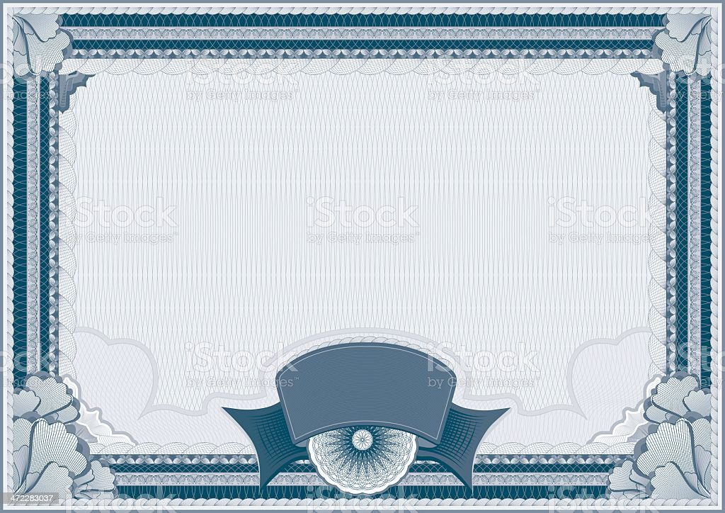 Certificate - blank template royalty-free stock vector art