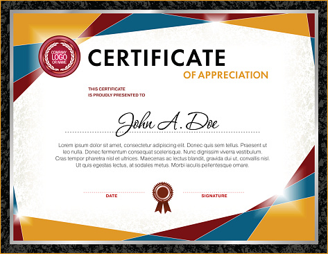 Certificate Blank Template Stock Illustration - Download