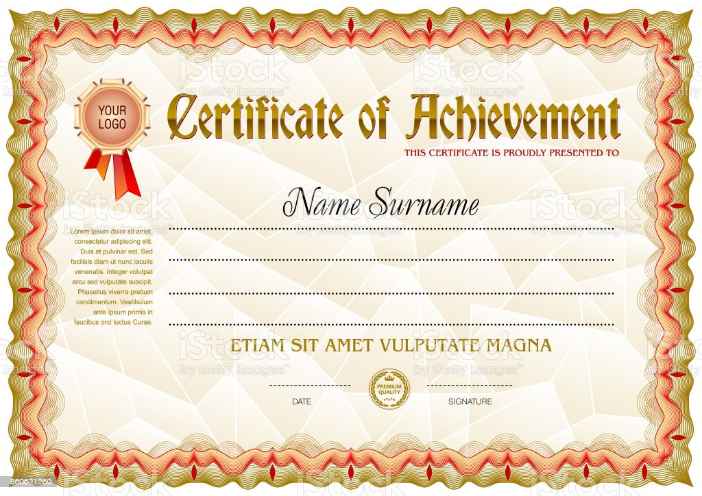 Certificate blank template stock vector art more images of award award ribbon bank calligraphy certificate certificate blank template yelopaper Images