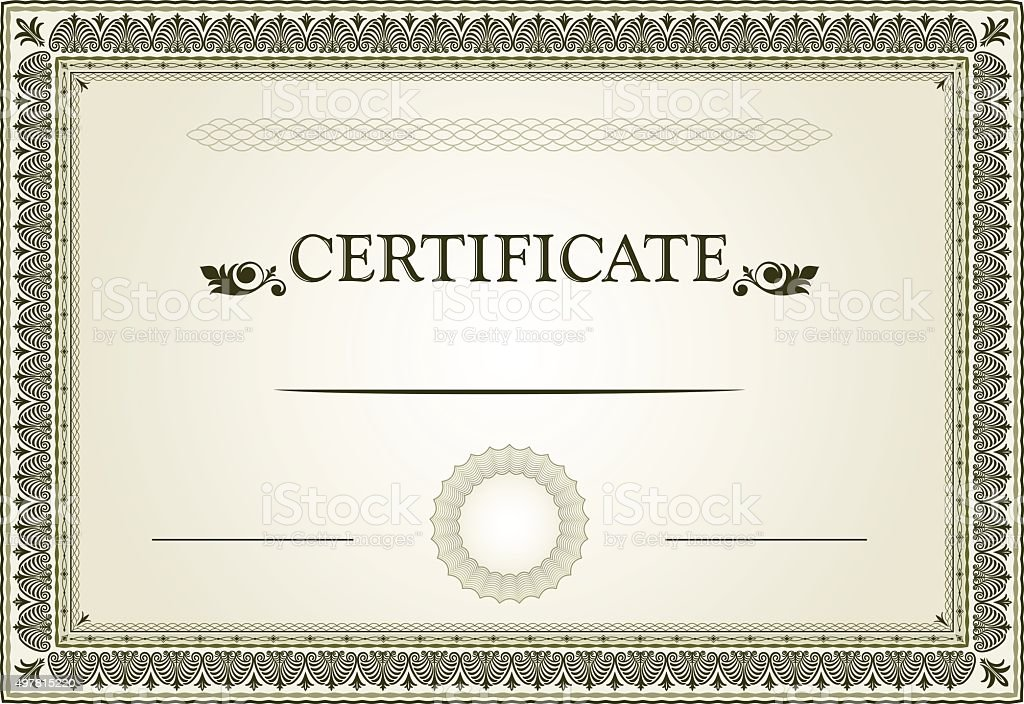Certificate border and template design stock vector art more certificate border and template design royalty free certificate border and template design stock vector art yelopaper Choice Image