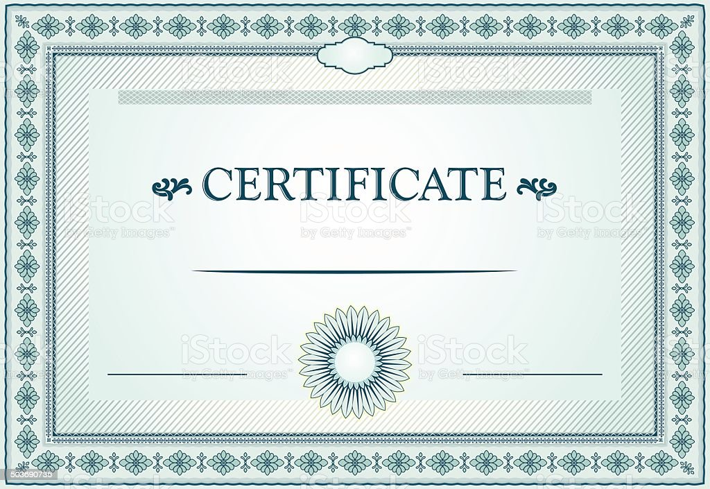 Certificate border and template design stock vector art more certificate border and template design royalty free certificate border and template design stock vector art yadclub Image collections