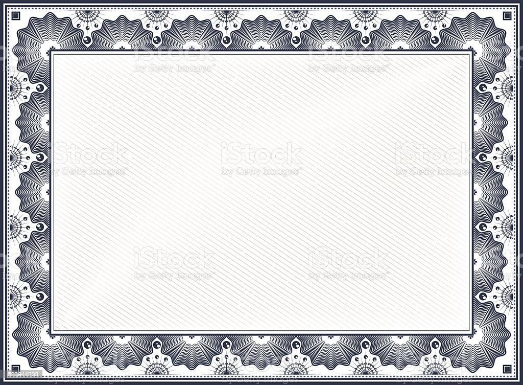 Certificate border stock vector art more images of antique 523944203 istock for Certificate border vector