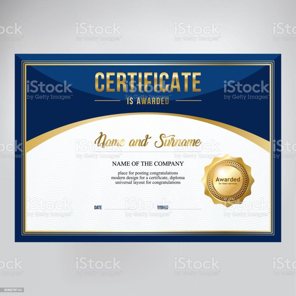 Certificate Design Template For Awards Stock Vector Art More