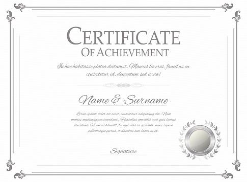 Certificate design template. Retro certificate, diploma design template