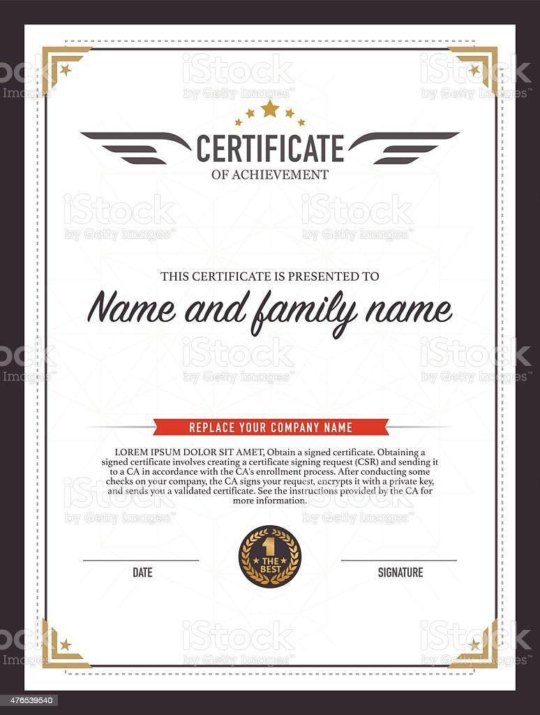 Certificate design template stock vector art 476539540 istock certificate design template royalty free stock vector art yadclub Choice Image