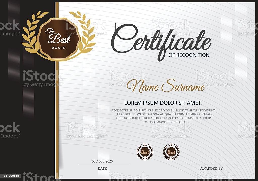 Certificate Design Template stock vector art 511066838 | iStock