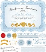 Certificate / Diploma / Coupon (template). Award background design (frame, Guilloche pattern)