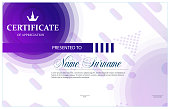 Certificate, Diploma of completion (template, background) Certificate of