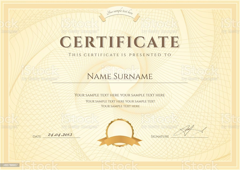 Certificate Diploma Template Award Background Design With – Template Award