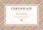 Certificate / Diploma template. Award background (stripy, lines, cell pattern)