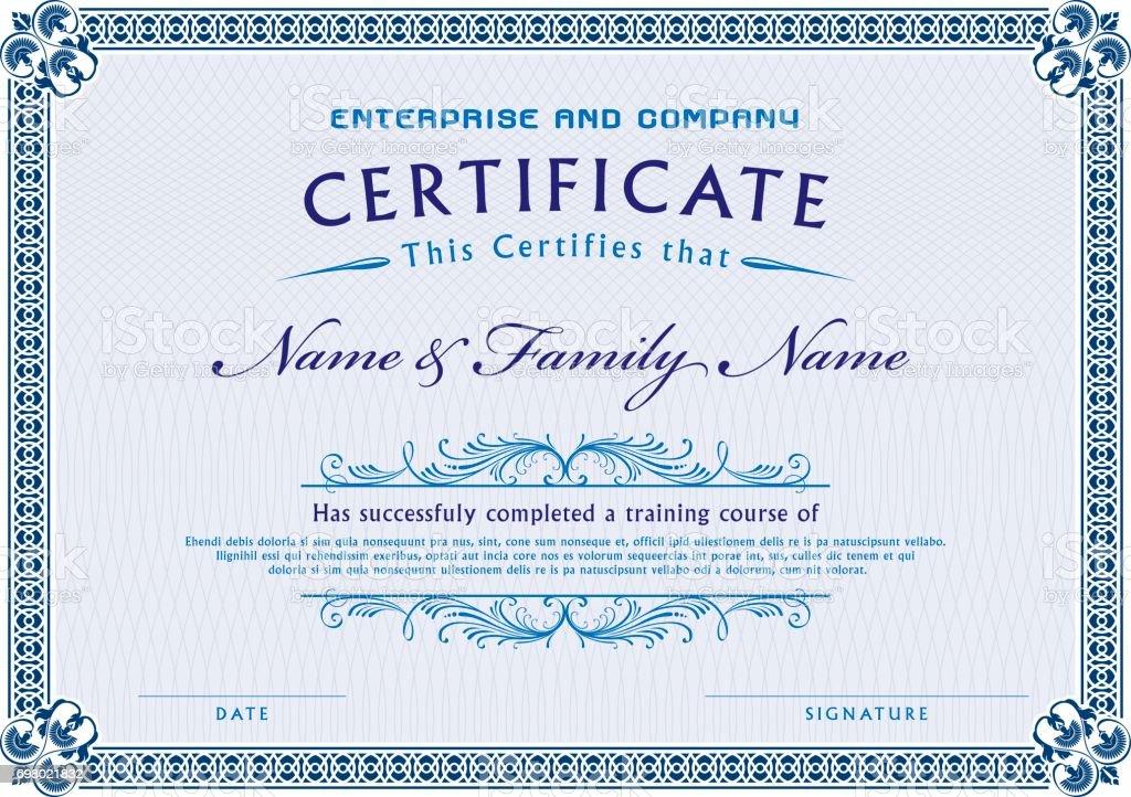 Diploma certificado - ilustración de arte vectorial
