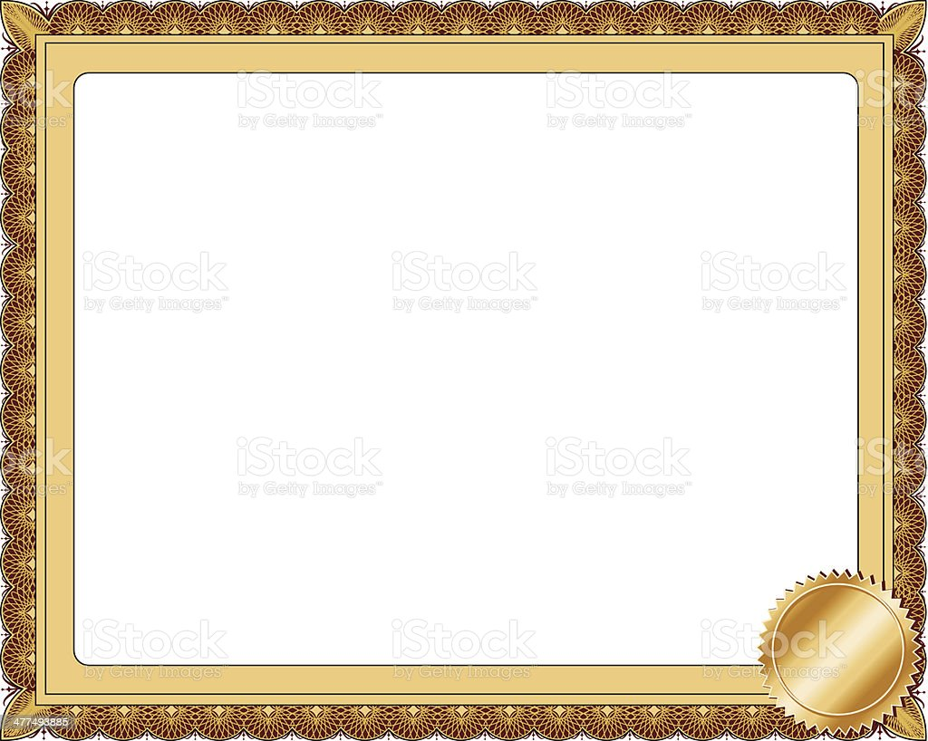 Certificate Frame Stock Vector Art & More Images of Certificate ...