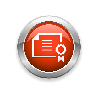 Certificate Glossy Icon