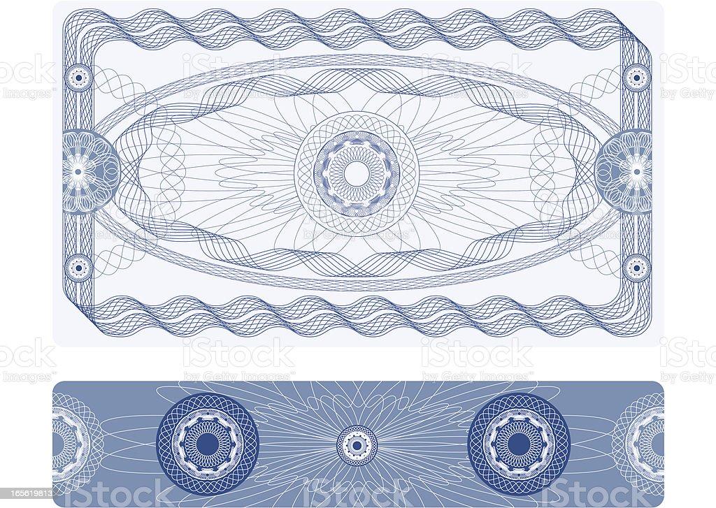 Certificate - Guilloche / Ticket or Diploma vector art illustration