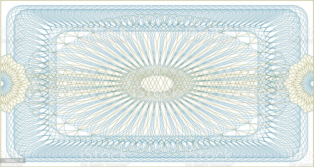 Certificate Guilloche Ticket royalty-free stock vector art