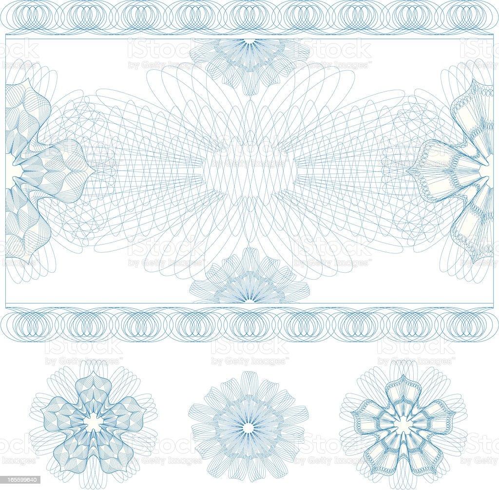 Certificate Guilloche Ticket vector art illustration
