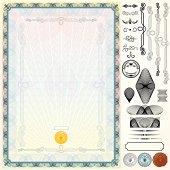 Certificate Kit. Design Template