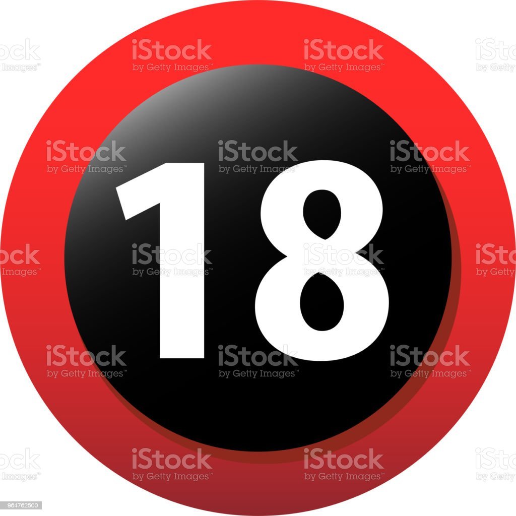18 certificate mark royalty-free 18 certificate mark stock illustration - download image now