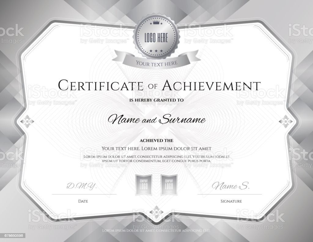 certificate of achievement border template on abstract swirl
