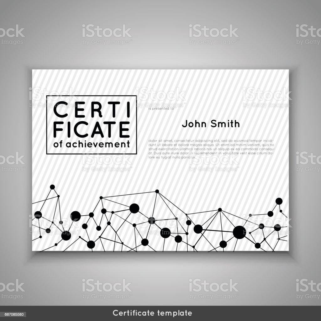 certificate of achievement completion appreciation graduation