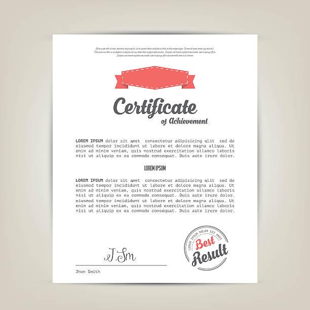 Certificate of achievement template Vector illustration debenture stock illustrations