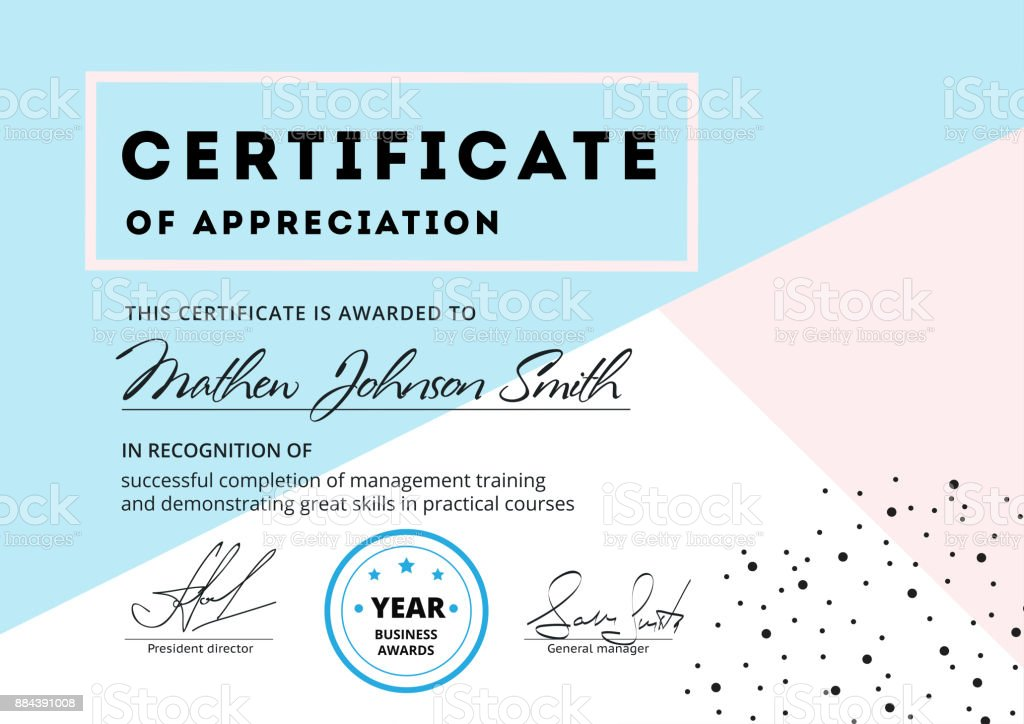 Certificate of appreciation template design elegant business di certificate of appreciation template design elegant business di royalty free certificate of appreciation template yadclub Choice Image
