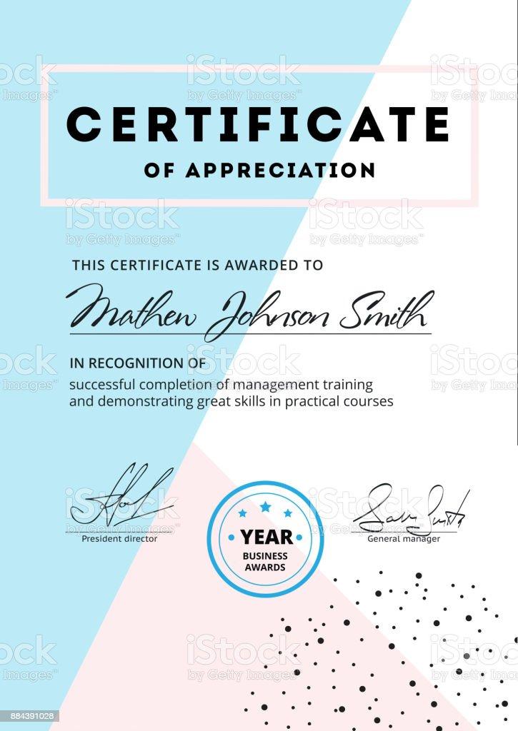 Certificate of appreciation template design elegant business di certificate of appreciation template design elegant business di royalty free certificate of appreciation template yelopaper Images