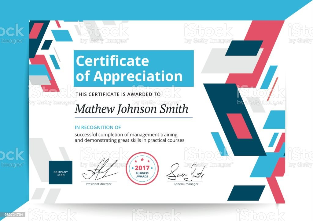 Certificate of appreciation template in modern design business stock certificate of appreciation template in modern design business royalty free certificate of appreciation template yelopaper Image collections