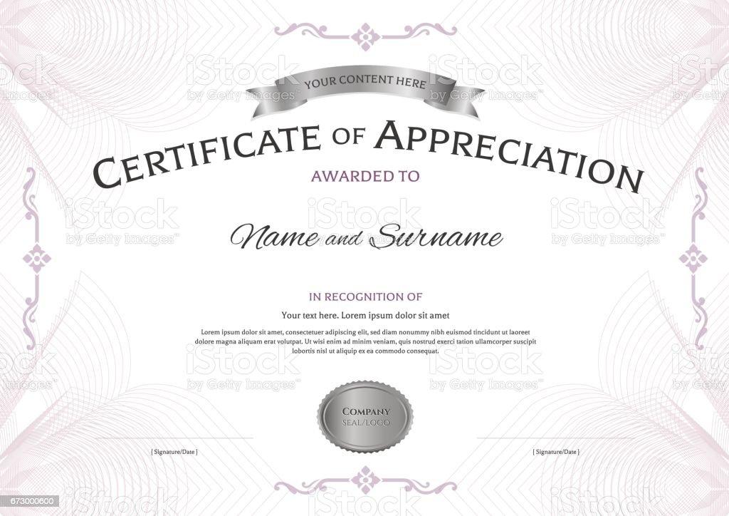 plaque of appreciation template - certificate of appreciation template with award ribbon