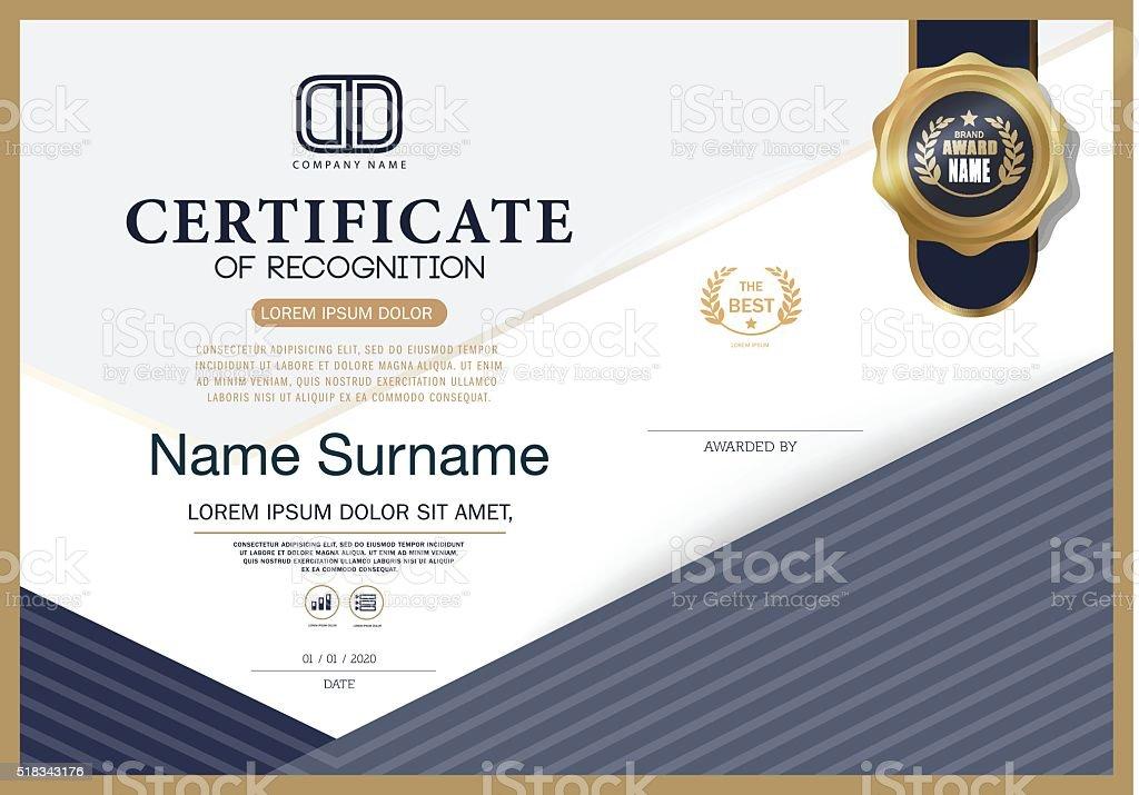 Certificate of recognition frame design template stock vector art certificate of recognition frame design template royalty free certificate of recognition frame design template stock yelopaper Images