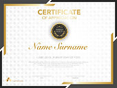 istock Certificate or Diploma template luxury modern style. 1243050502