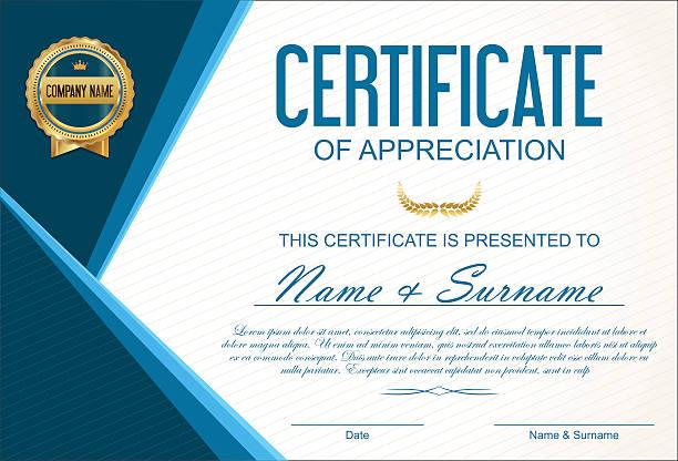 Zertifikat oder Diplom-Vorlage – Vektorgrafik